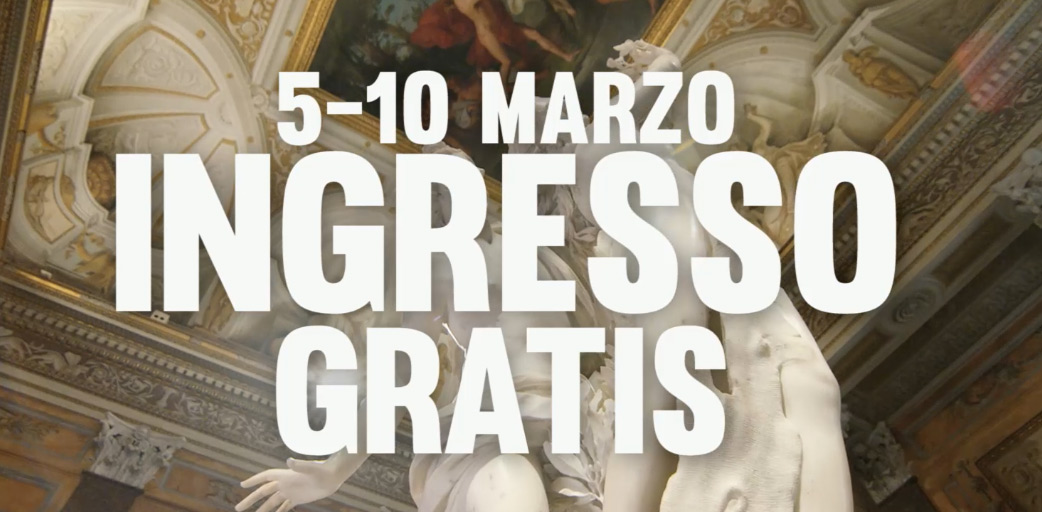 Dal 5 al 10 marzo i musei italiani sono gratis per tutti, tutti i giorni