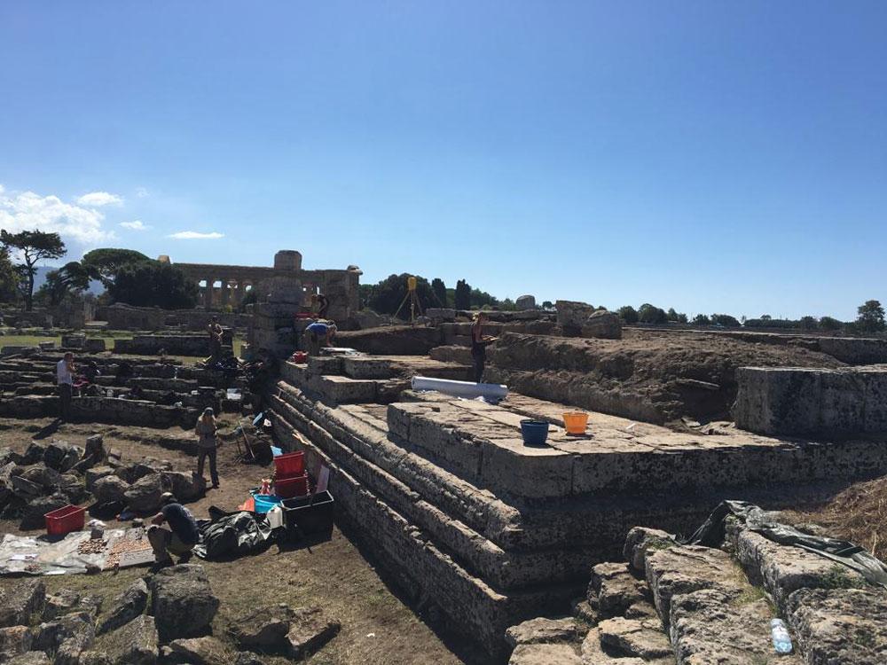 Tempio della Pace di Paestum: conclusa la campagna di scavi con novità