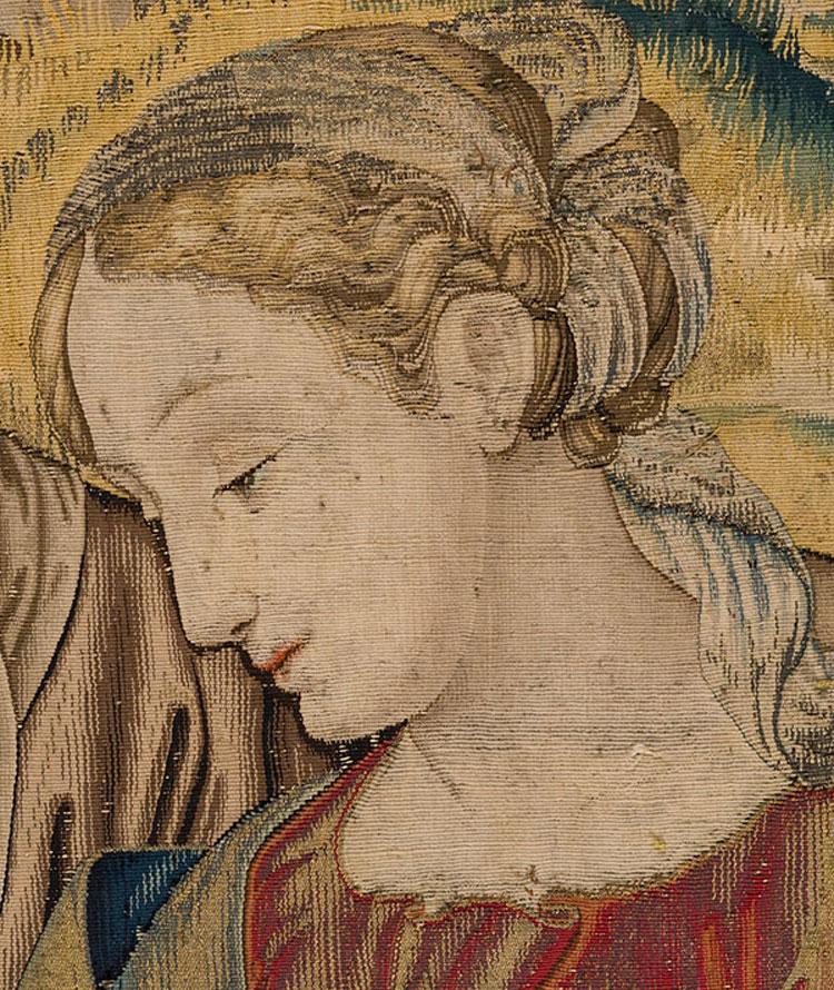 A Mondovì in mostra l'arazzo restaurato della Madonna del Divino Amore da un cartone di Raffaello
