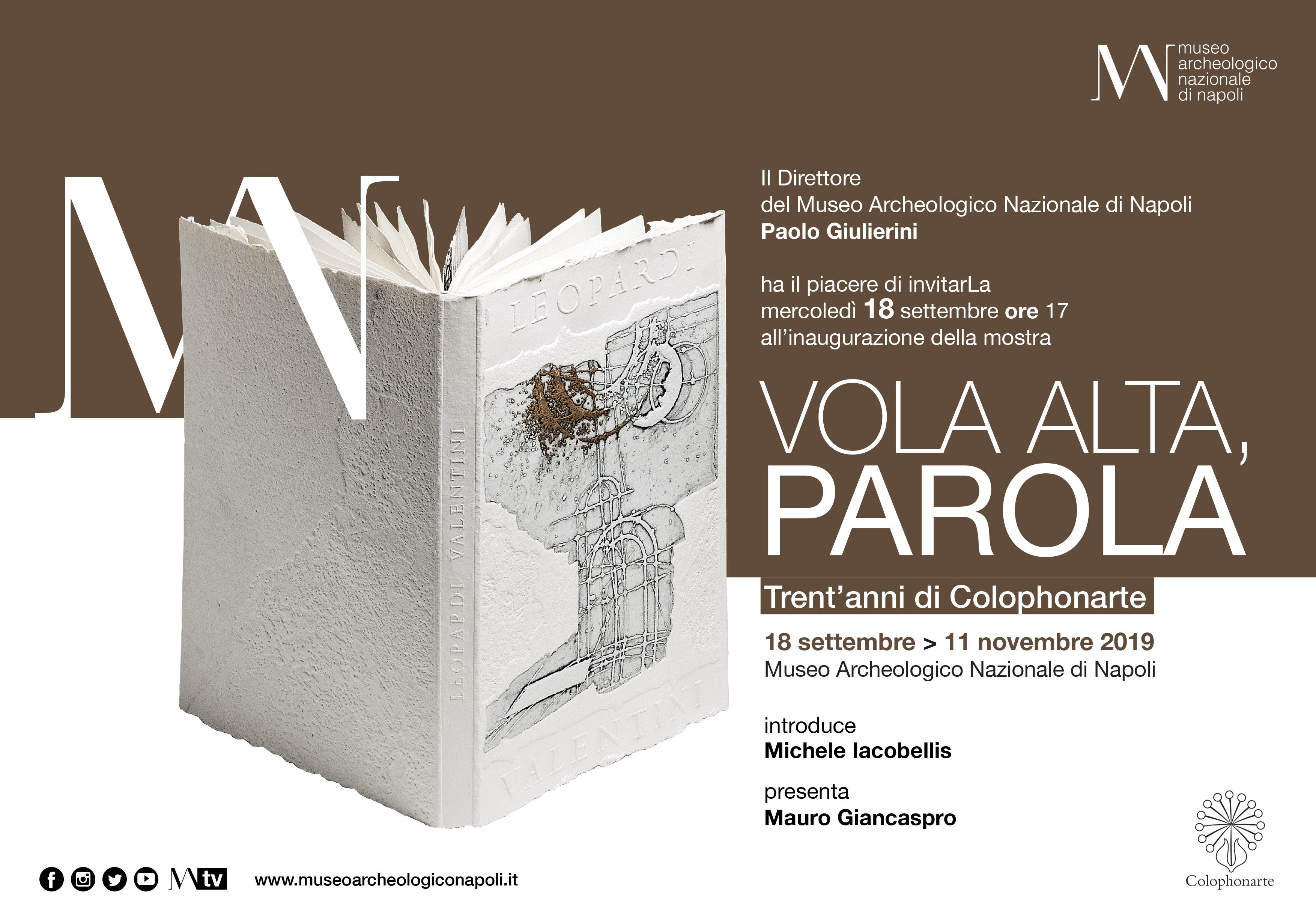 La casa editrice Colophonarte festeggia trent'anni con una mostra al MANN di Napoli