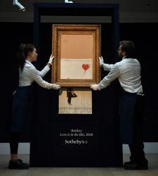 Banksy e l'opera tritata, quando l'arte contemporanea diventa caricatura di se stessa