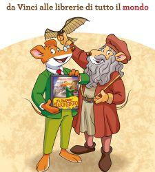 Geronimo Stilton racconta Leonardo alle librerie di tutto il mondo
