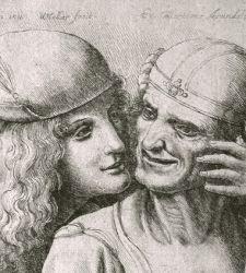 Teste grottesche e moti dell'animo, Leonardo da Vinci disegnato da Wenceslaus Hollar alla Fondazione Pedretti