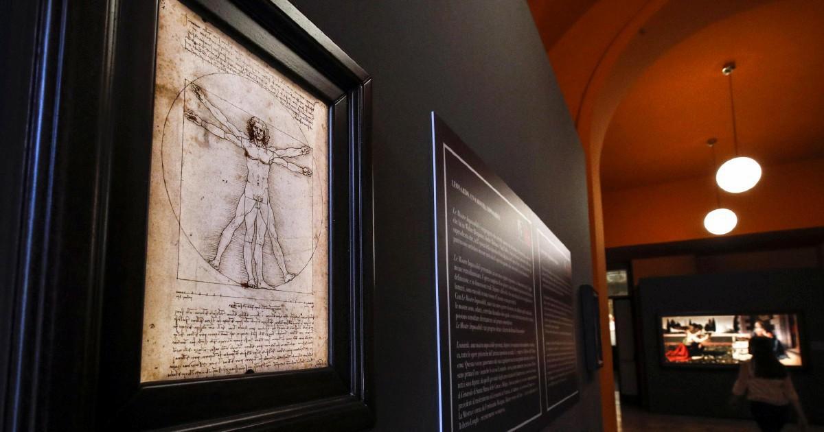 L'Uomo vitruviano di Leonardo da Vinci in mostra al Louvre