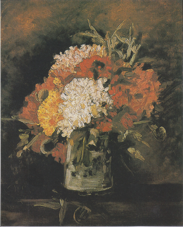 Vincent van Gogh, Vaso con garofani (1886; olio su tela, 40 x 32,5 cm; Rotterdam, Museum Boijmans van Beuningen)