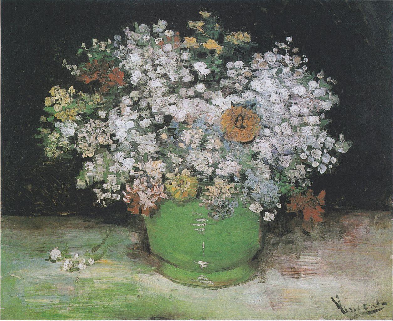 Vincent van Gogh, Vaso con zinnie e altri fiori (1886; olio su tela, 50,2 x 61 cm; Ottawa, National Gallery of Canada)