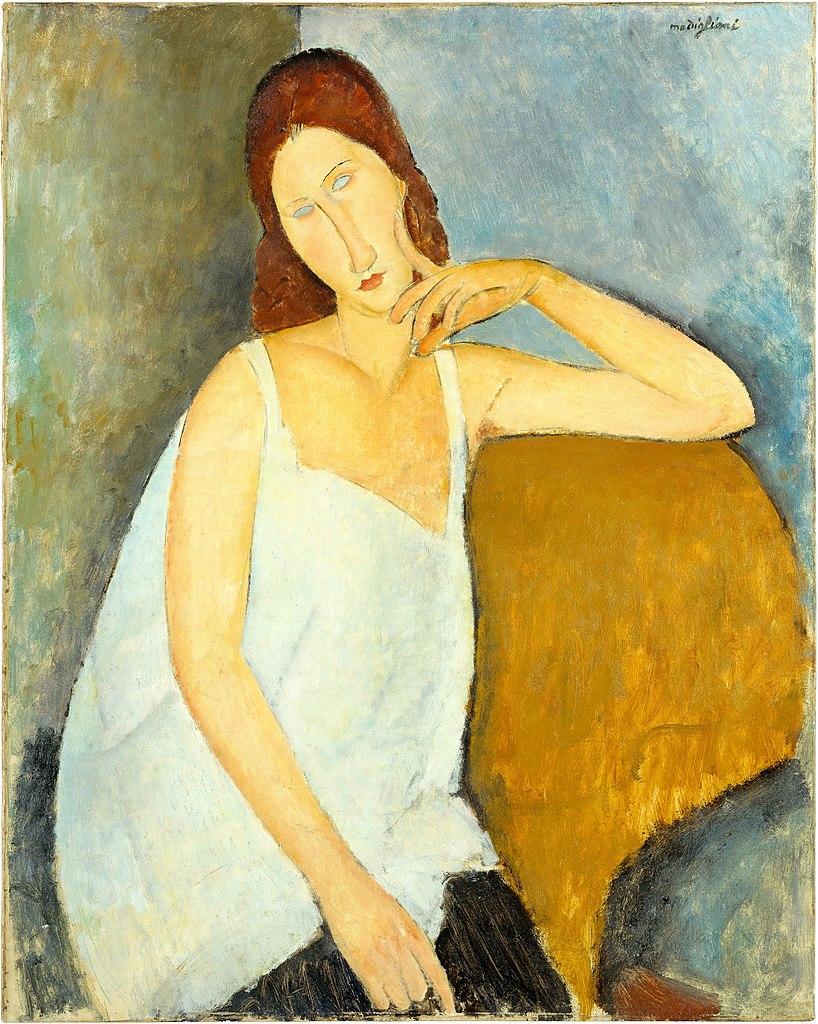 Amedeo Modigliani, Ritratto di Jeanne Hébuterne (1919; olio su tela, 91,4 x 73 cm; New York, Metropolitan Museum of Art)