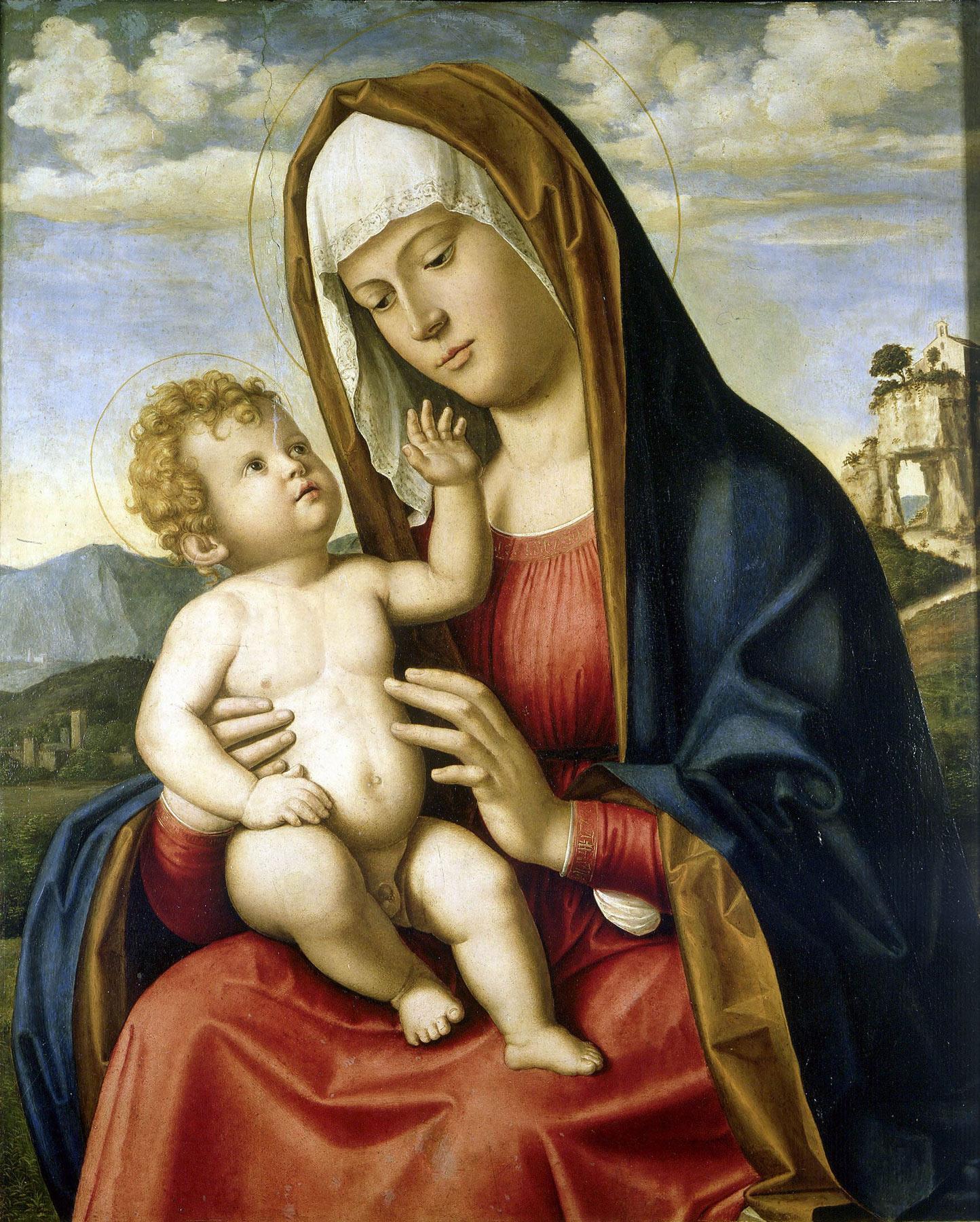 Cima da Conegliano, Madonna col bambino (1495-97; olio su tavola, 71 x 55 cm; Parigi, Petit Palais)