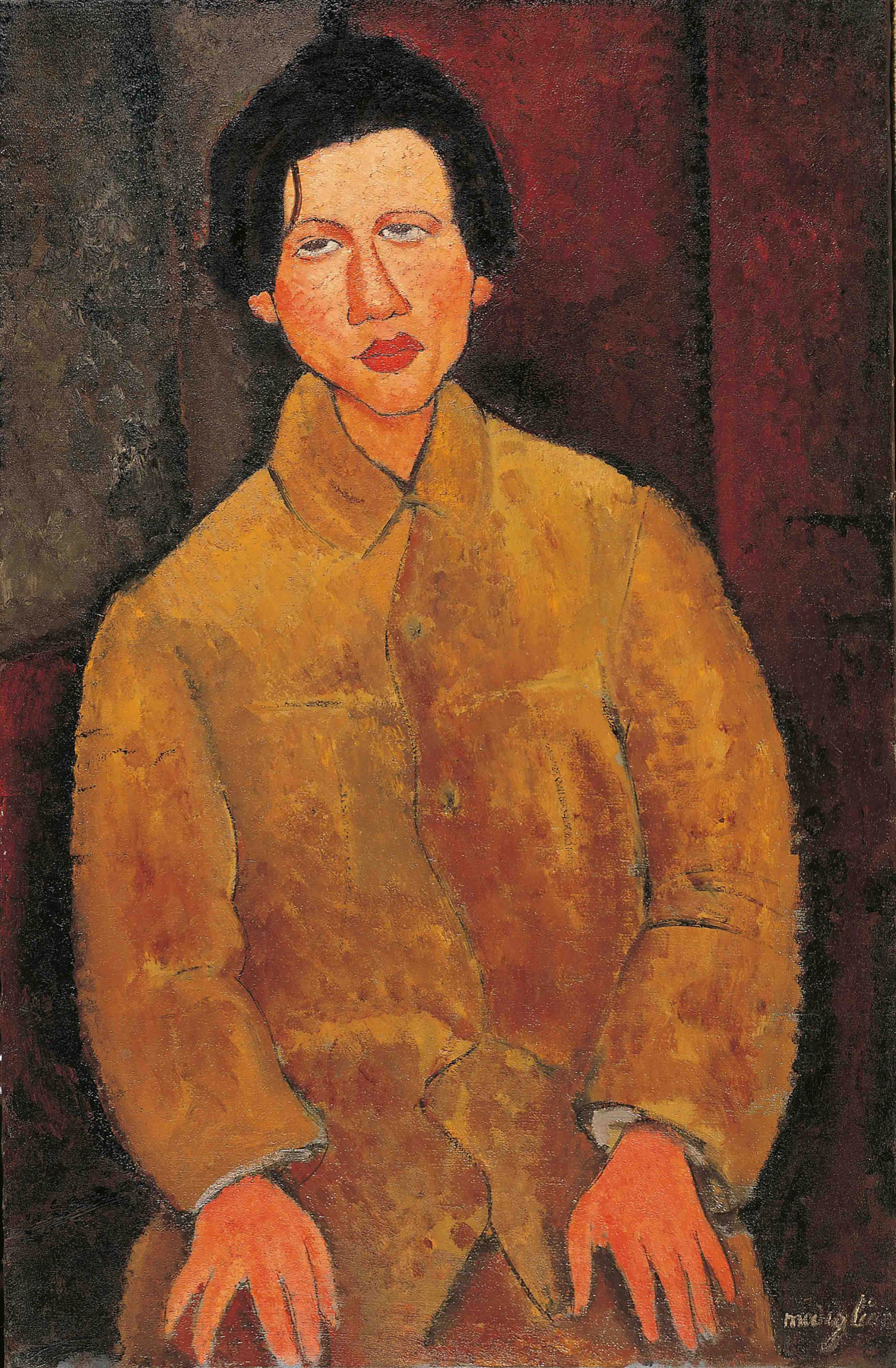 Amedeo Modigliani, Chaïm Soutine (1916; olio su tela, 100 x 65 cm; Collezione Jonas Netter)