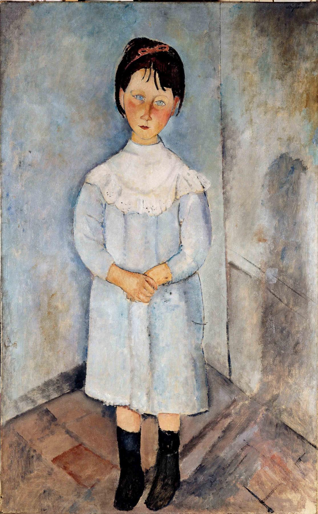 Amedeo Modigliani, Fillette en bleu (1918; olio su tela, 116 x 73 cm; Collezione Jonas Netter)