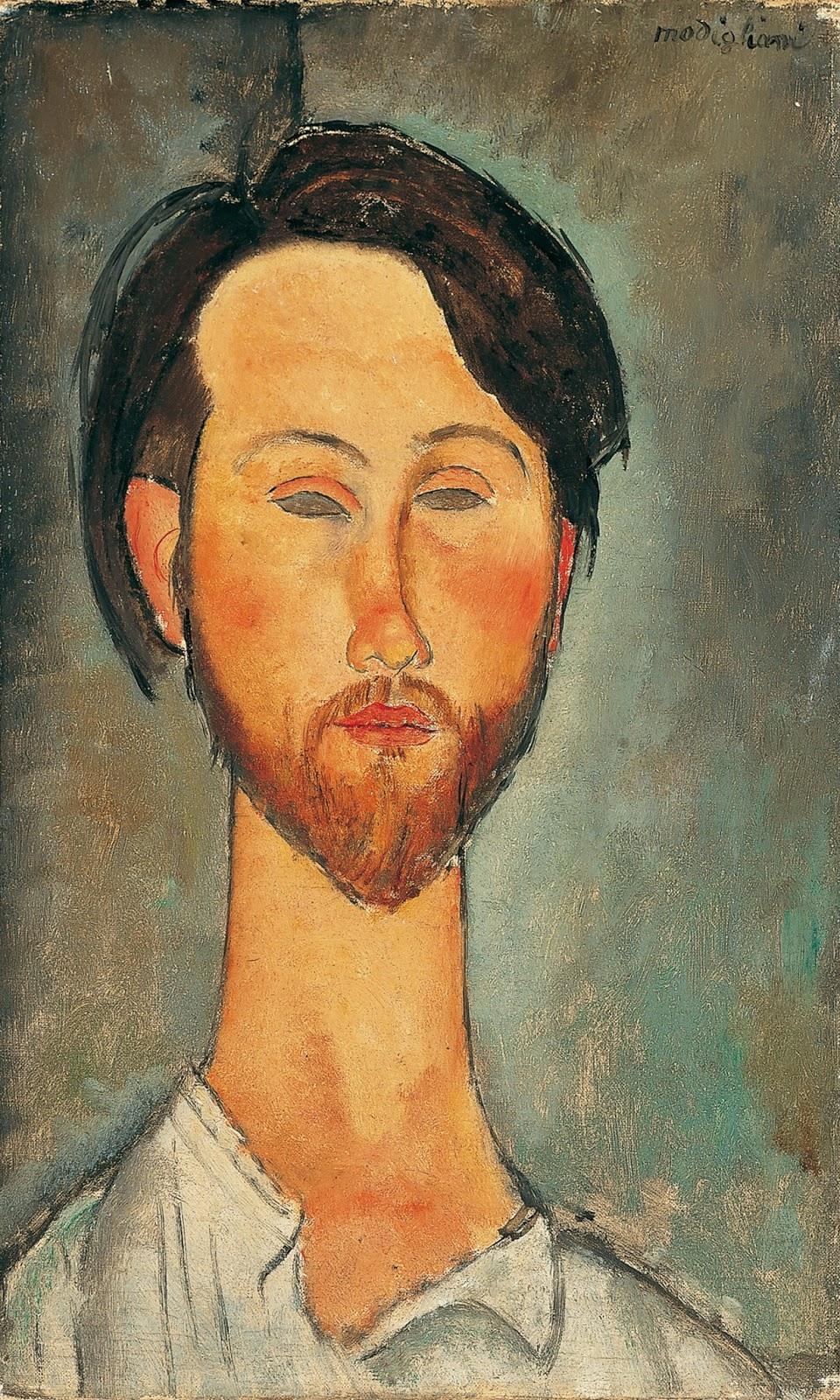 Amedeo Modigliani, Léopold Zborowski (1916; olio su tela, 46 x 27 cm; Collezione Jonas Netter)