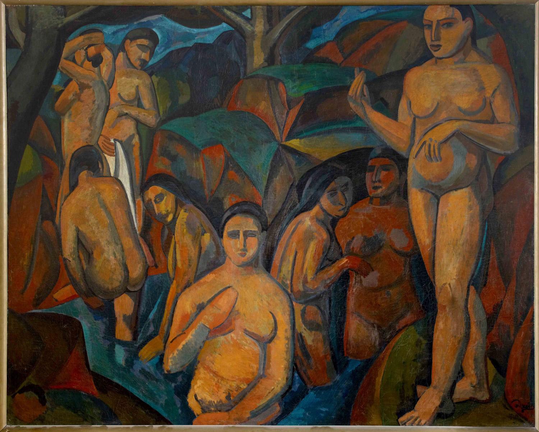 André Derain, Les grandes baigneuses (1908; olio su tela, 178 x 225 cm; Collezione Netter)