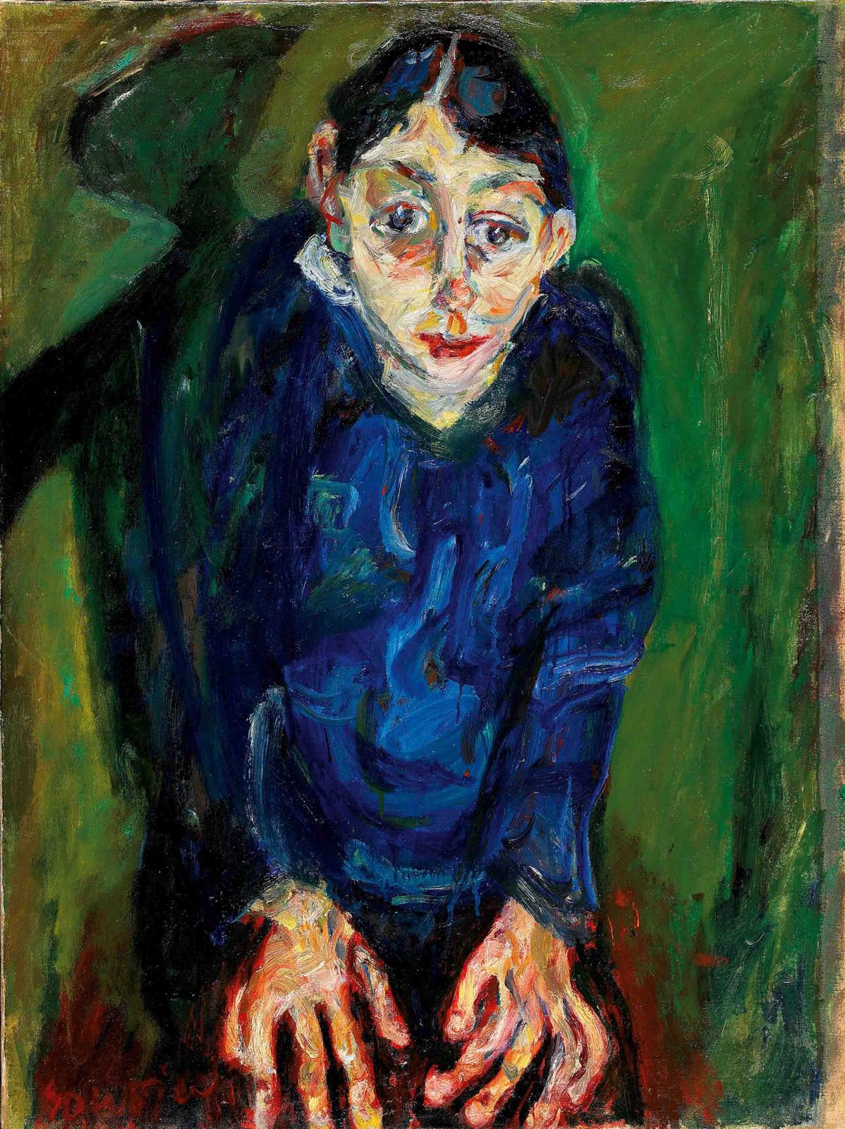 Chaïm Soutine, La folle (1919 circa; olio su tela, 87 x 65,1 cm; Collezione Jonas Netter)