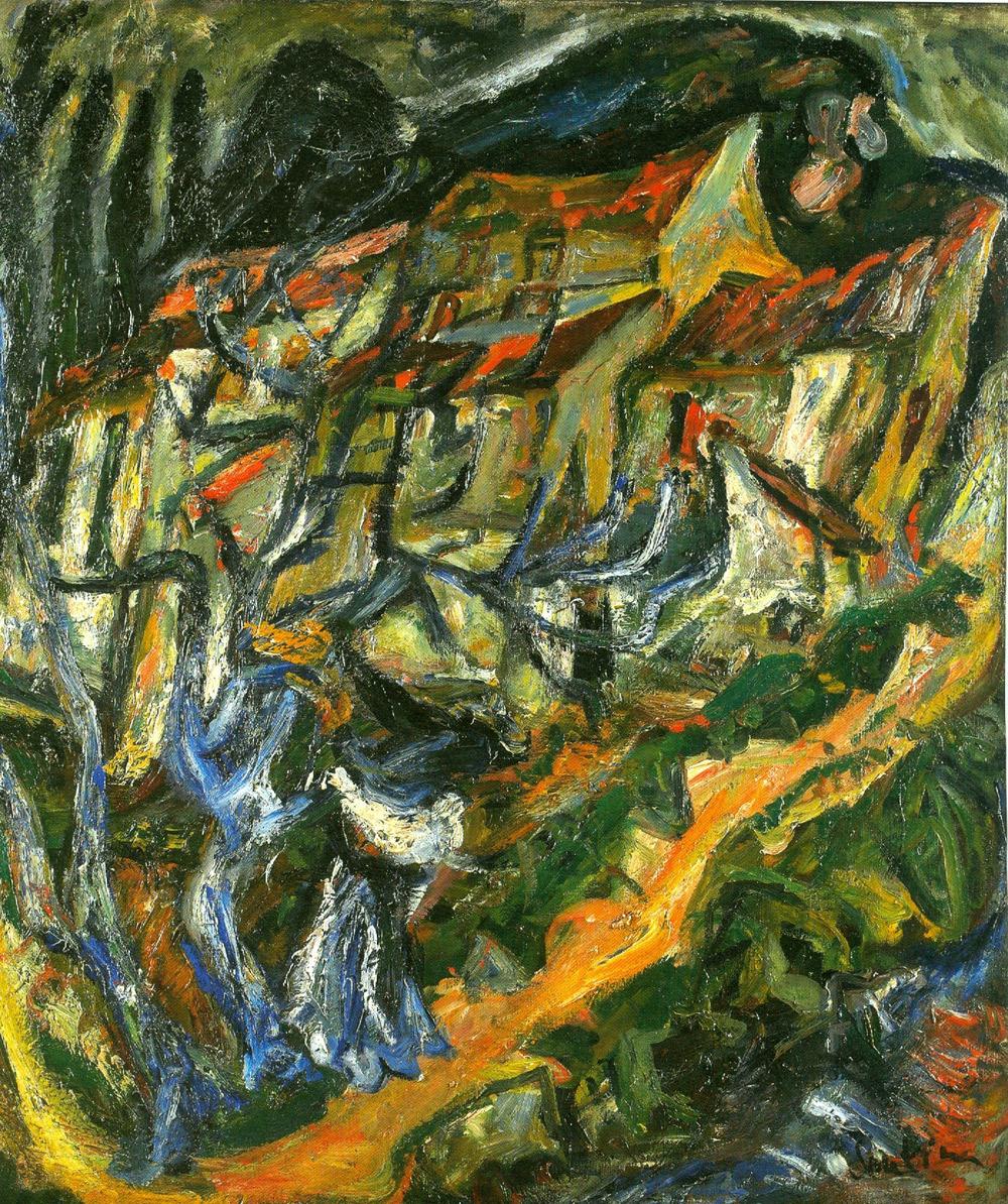 Chaïm Soutine, Paysage montagneux (1920 circa; olio su tela, 85 x 74,8 cm; Collezione Jonas Netter)