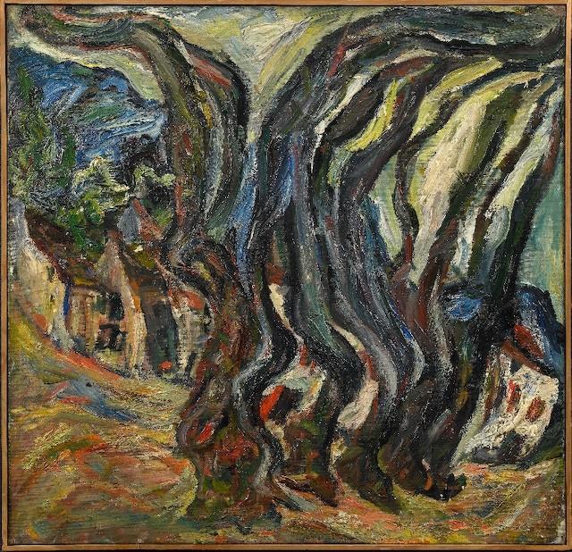 Chaïm Soutine, Les grandes arbres, Céret (1922 circa; olio su tela, 66 x 64 cm; Collezione Jonas Netter)