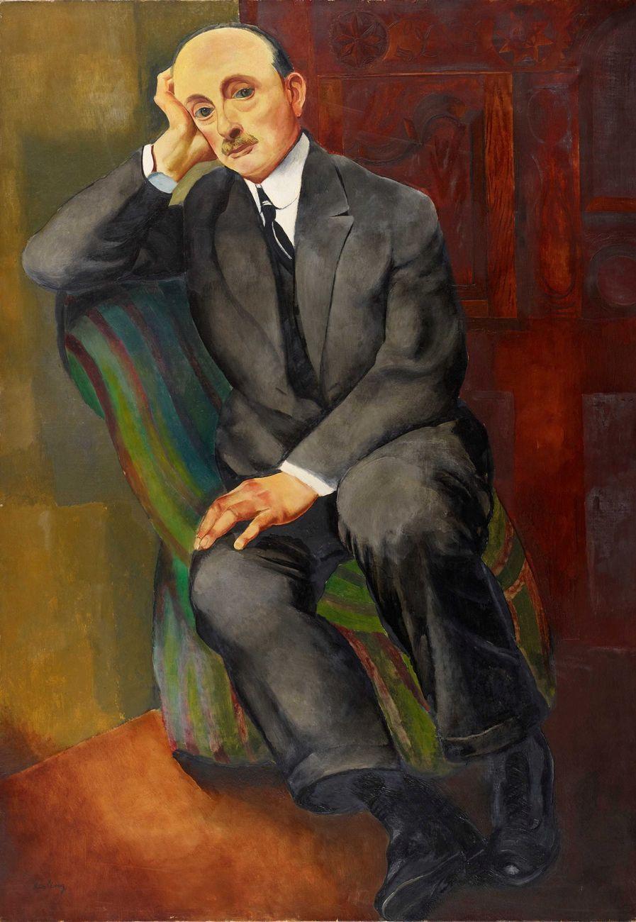 Moïse Kisling, Portrait d'homme (Jonas Netter) (1920; olio su tela, 116 x 81 cm; Collezione Jonas Netter)
