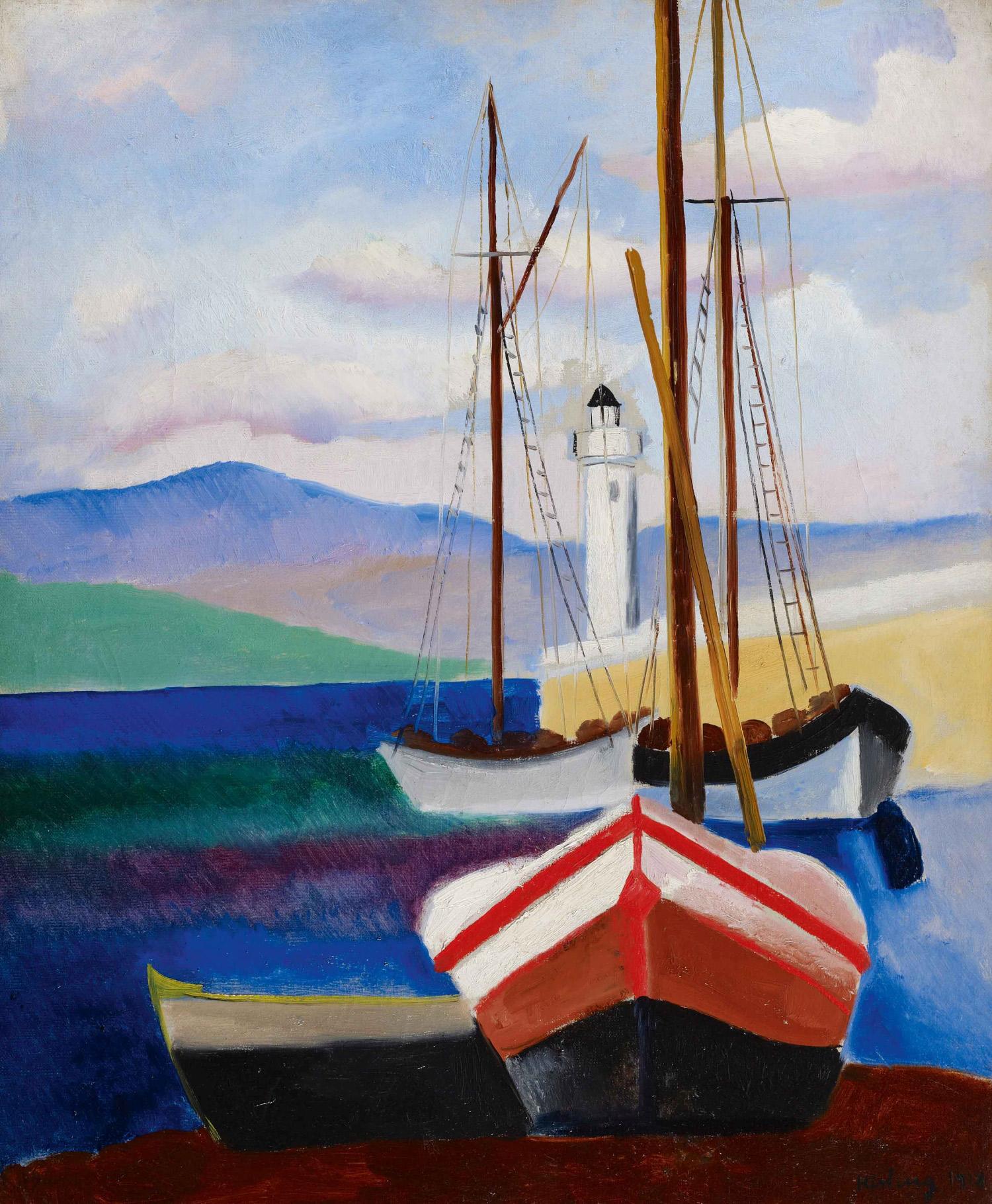 Moïse Kisling, St-Tropez, Septembre (1918; olio su tela, 65,2 x 54,2 cm; Collezione Jonas Netter)
