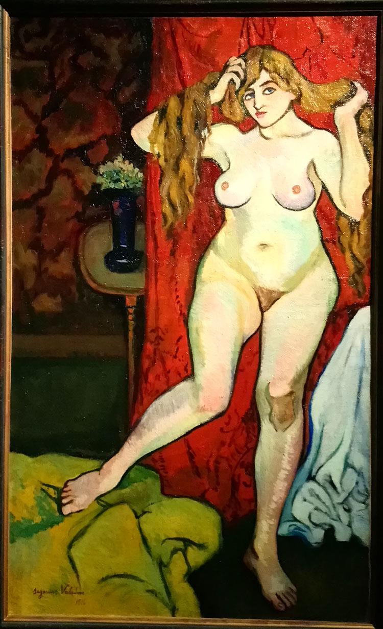 Suzanne Valadon, Nu se coiffant (1916; olio su tela, 100 x 61 cm; Collezione Netter)