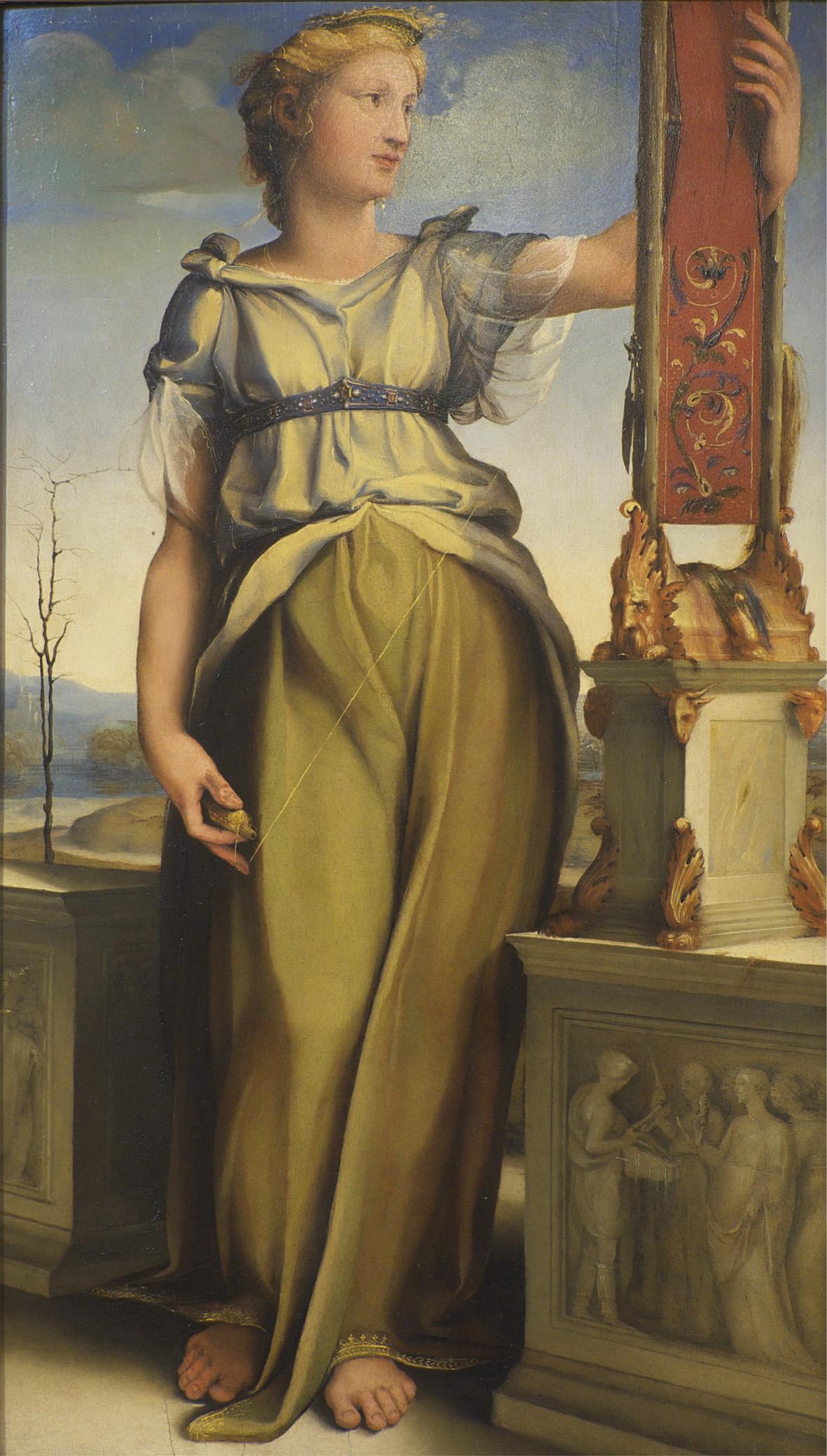 Domenico Beccafumi, Penelope (1519; olio su tavola, 84 x 48 cm; Venezia, Pinacoteca Manfrediniana del Seminario Patriarcale)