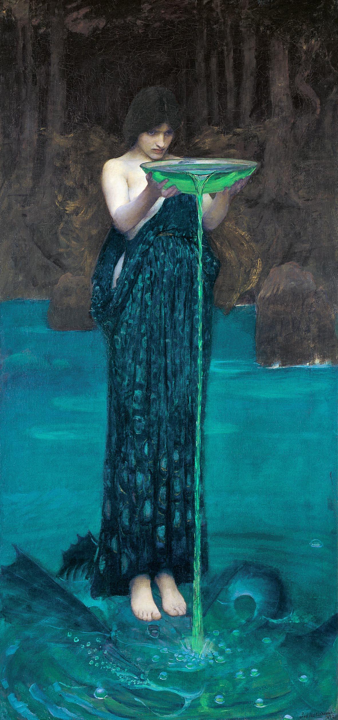 John W. Waterhouse, Circe invidiosa (1892; olio su tela, 180,7 x 87,4 cm; Adelaide, Art Gallery of South Australia)