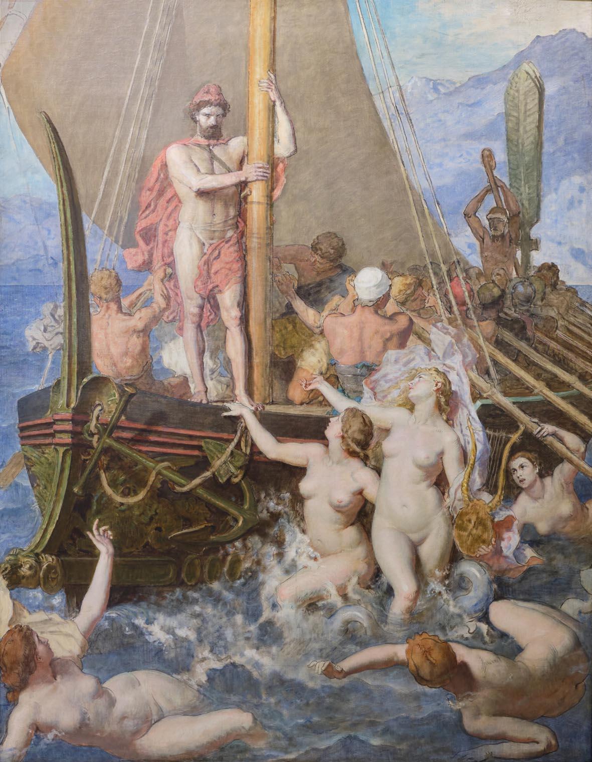 Lèon Belly, Les Sirènes (1867; olio su tela, 363 x 300 cm; Saint-Omer, Musée de l'hôtel Sandelin)