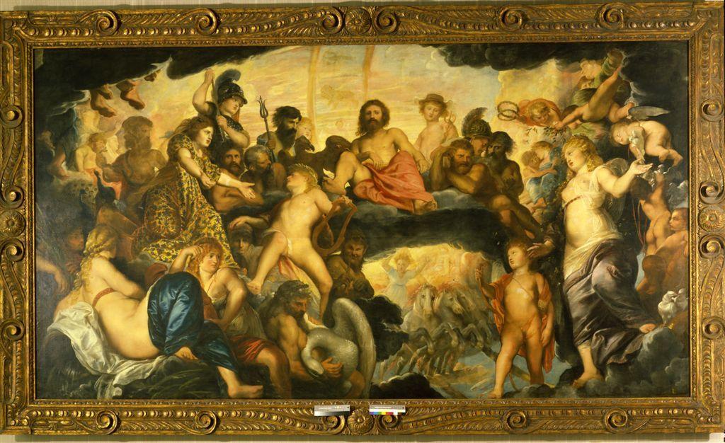 Pieter Paul Rubens, Gli dèi dell'Olimpo (1601-1602; olio su tela, 204 x 379 cm; Praga, Castello)