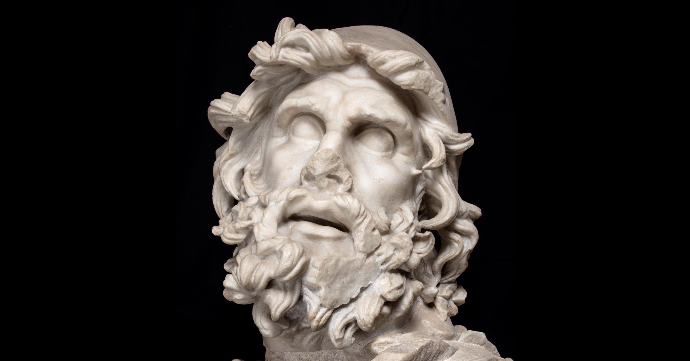 Arte romana, Ulisse (I sec. d.C.; marmo, 39 x 47 cm; Sperlonga, Museo Archeologico Nazionale)