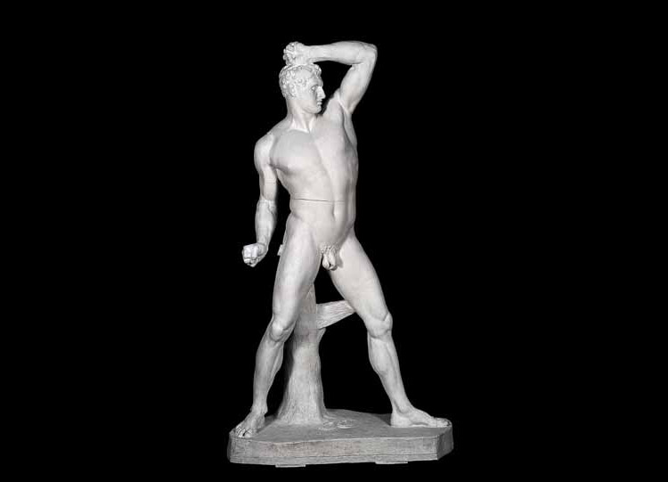 Antonio Canova, Creugante (1806; gesso, 218 × 125 × 66 cm; Padova, palazzo Papafava, collezione privata)