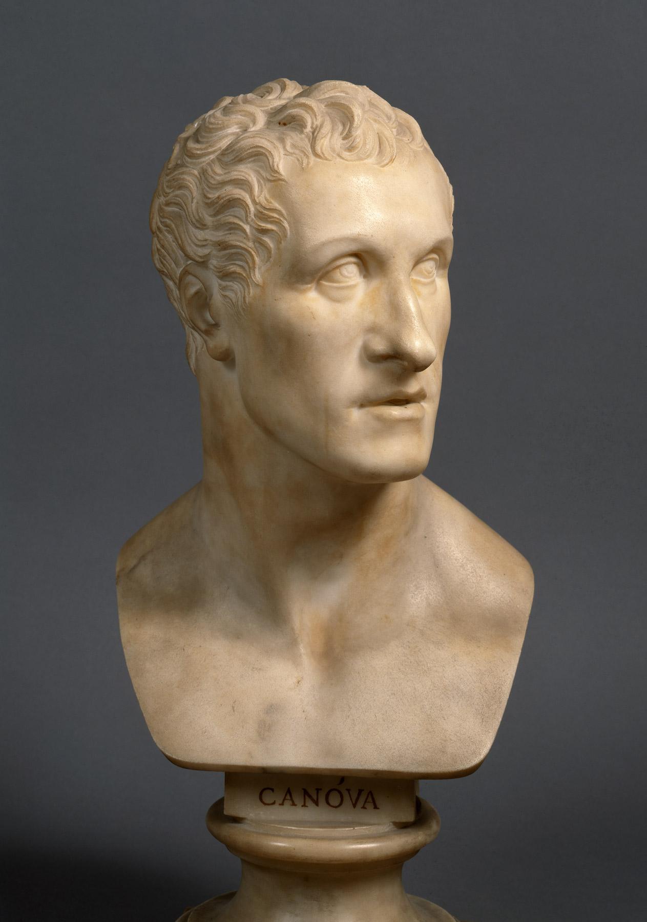 Antonio Canova, Busto di Antonio Canova (1832; marmo, 50,5 × 23 × 21 cm; Città del Vaticano, Musei Vaticani, inv. 15935)
