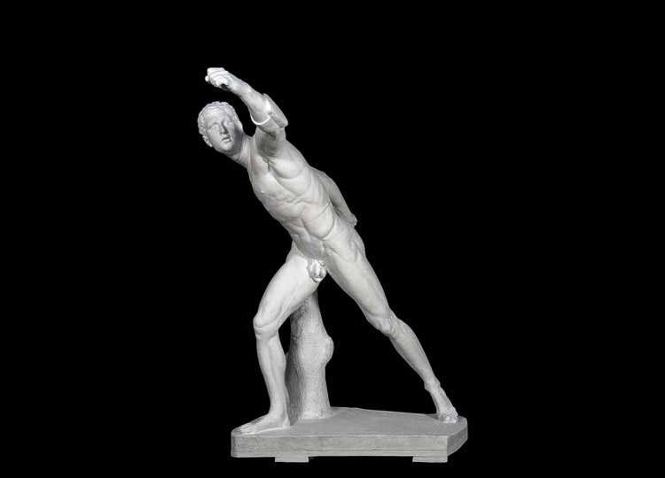 Formatore dell'ambito di Antonio Canova, Gladiatore Borghese (1806; gesso, 157 × 132 × 66 cm; Padova, palazzo Papafava, collezione privata)