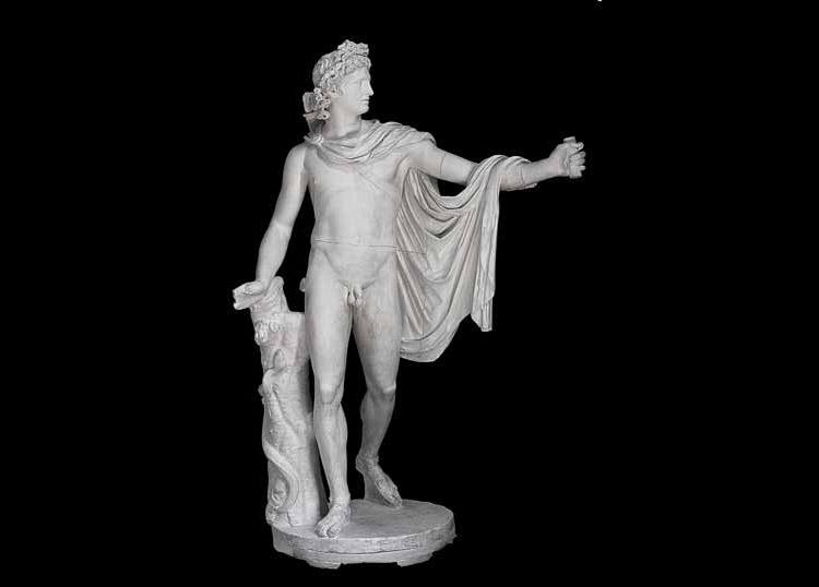 Formatore dell'ambito di Antonio Canova, Apollo del Belvedere (1806; gesso, 230 × 130 × 90 cm; Padova, palazzo Papafava, collezione privata)