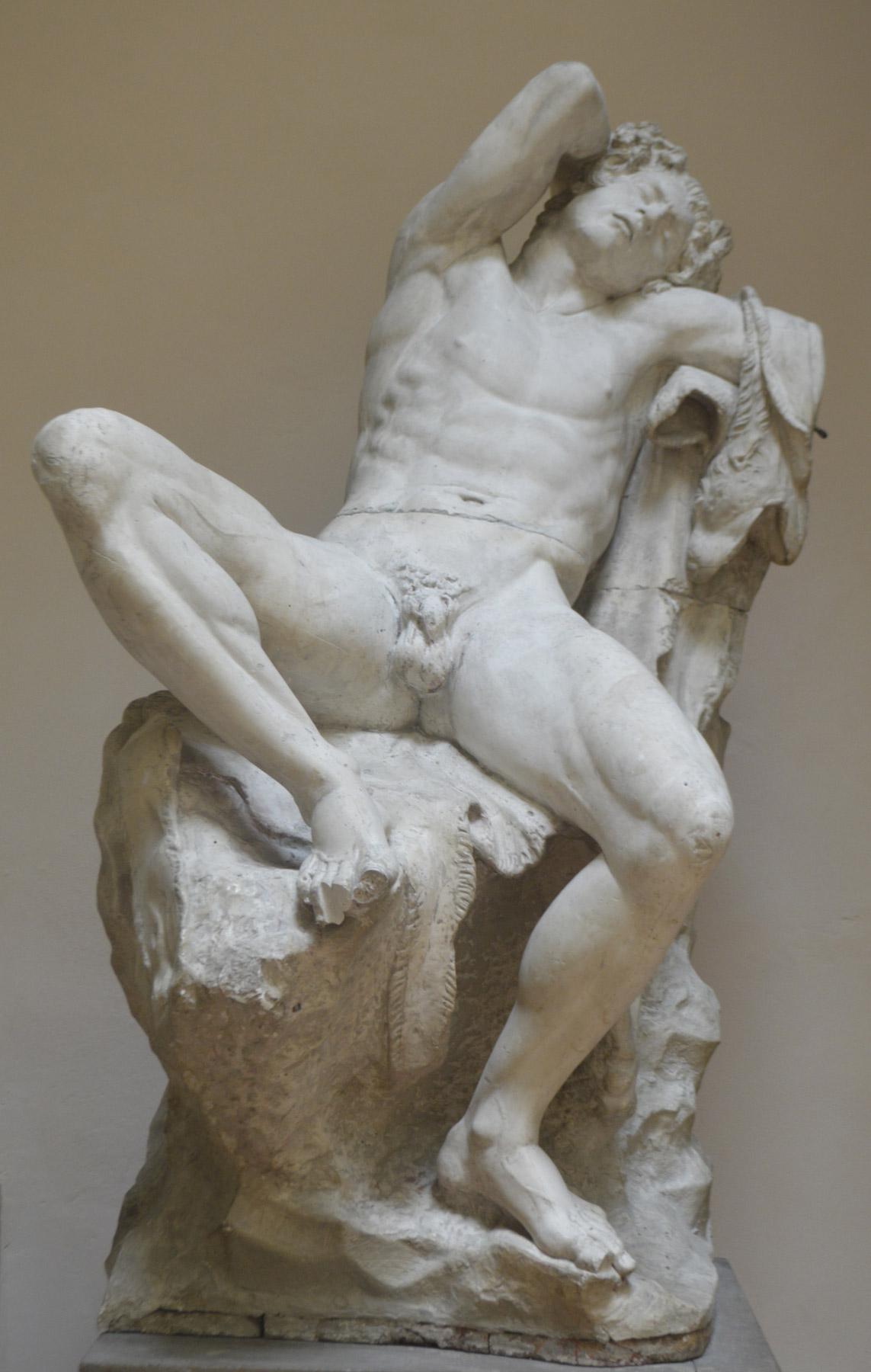 Formatore romano, Fauno Barberini (prima del 1811; gesso, 200 x 130 x 130 cm; Bologna, Accademia di Belle Arti di Bologna - Patrimonio Storico). Foto di Luca Marzocchi