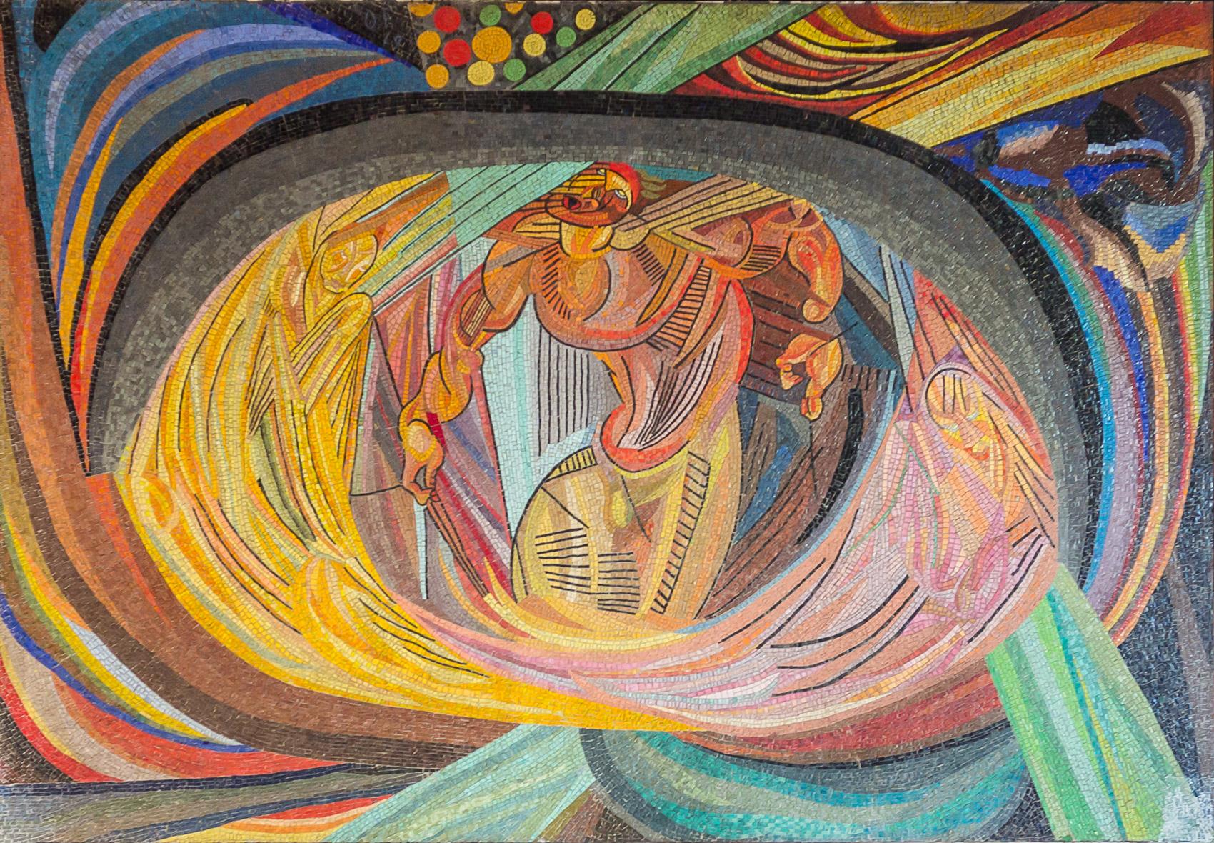 Otto Freundlich, Die Geburt des Menschen (1919; mosaico, 215 x 305 cm; Colonia, Teatro dell'Opera)