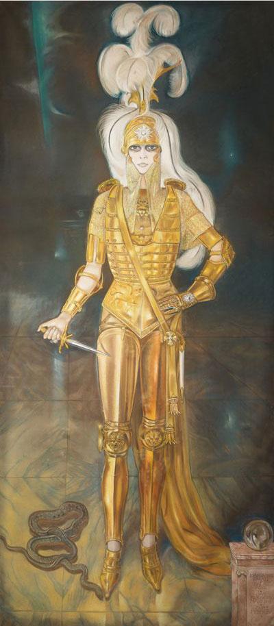 Alberto Martini, La marchesa Casati come Cesare Borgia (1925; pastello, 280 x 125 cm; Collezione privata Audouy)