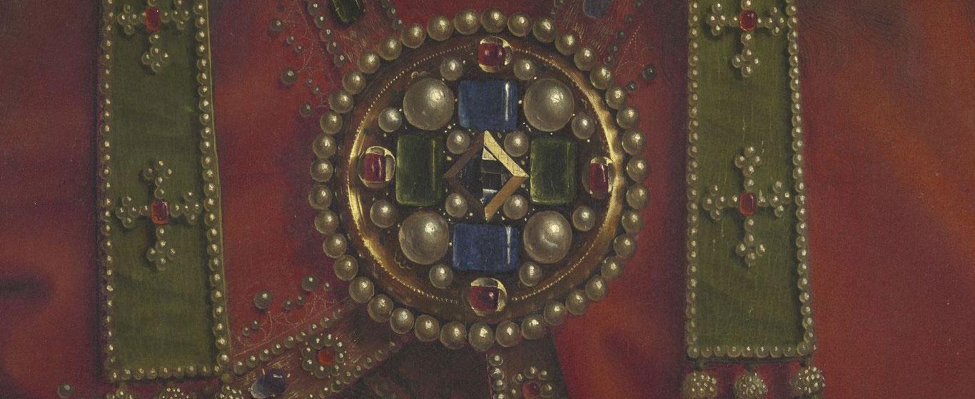 Jan van Eyck e Hubert van Eyck, Polittico dell'Agnello Mistico, dettaglio della figura del Padreterno
