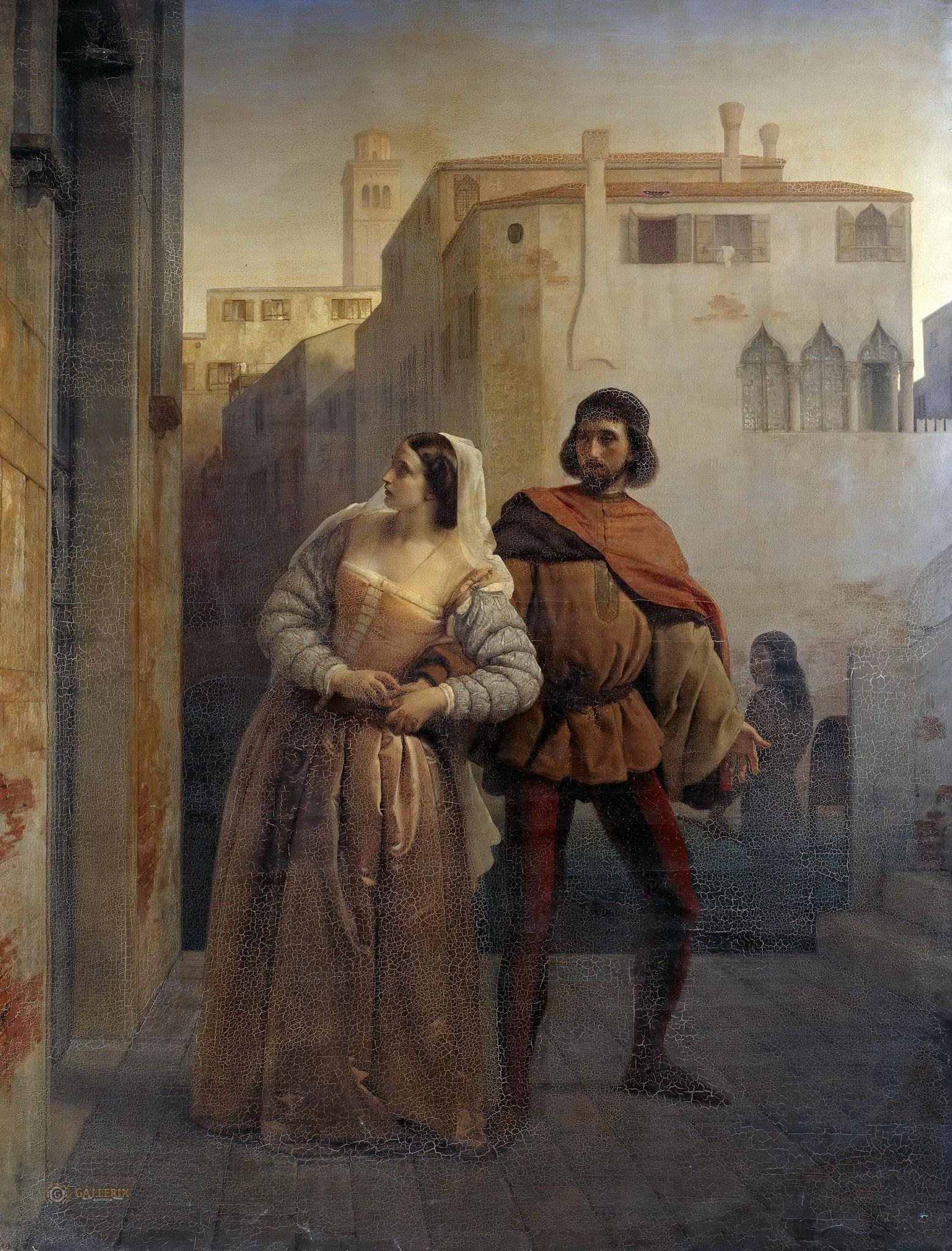 Francesco Hayez, Fuga da Bianca Capello da Venezia (1853-1854; olio su tela, 208 x 159,5 cm; Berlino, Staatliche Museen)