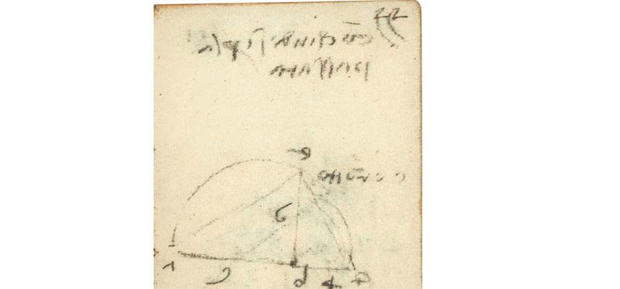 Leonardo da Vinci, Manoscritto K, f. 23r (Parigi, Istitut de France)