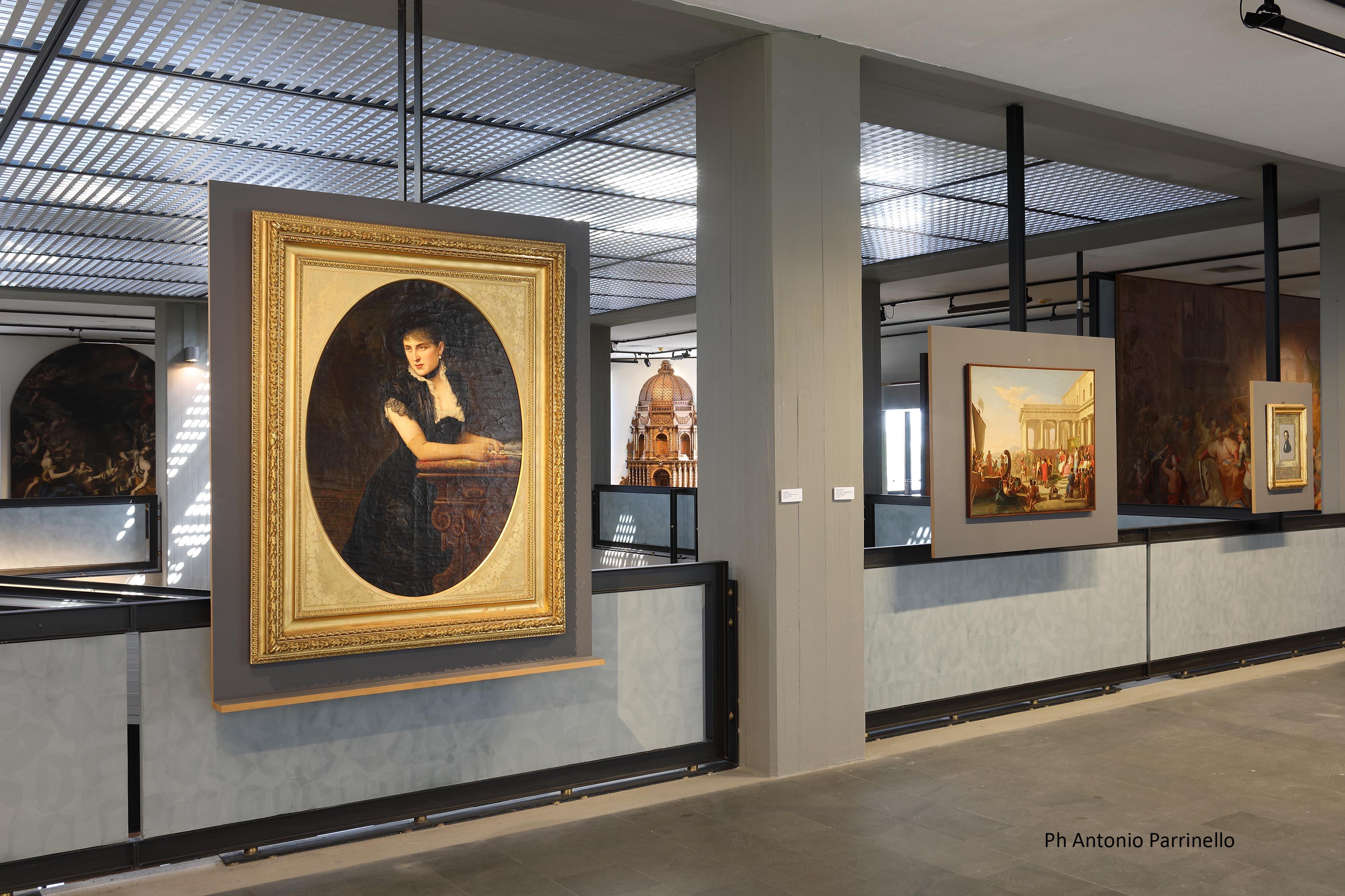 Sala Ottocento, Ritratto di signora in nero. Ph. Credit Foto Parrinello