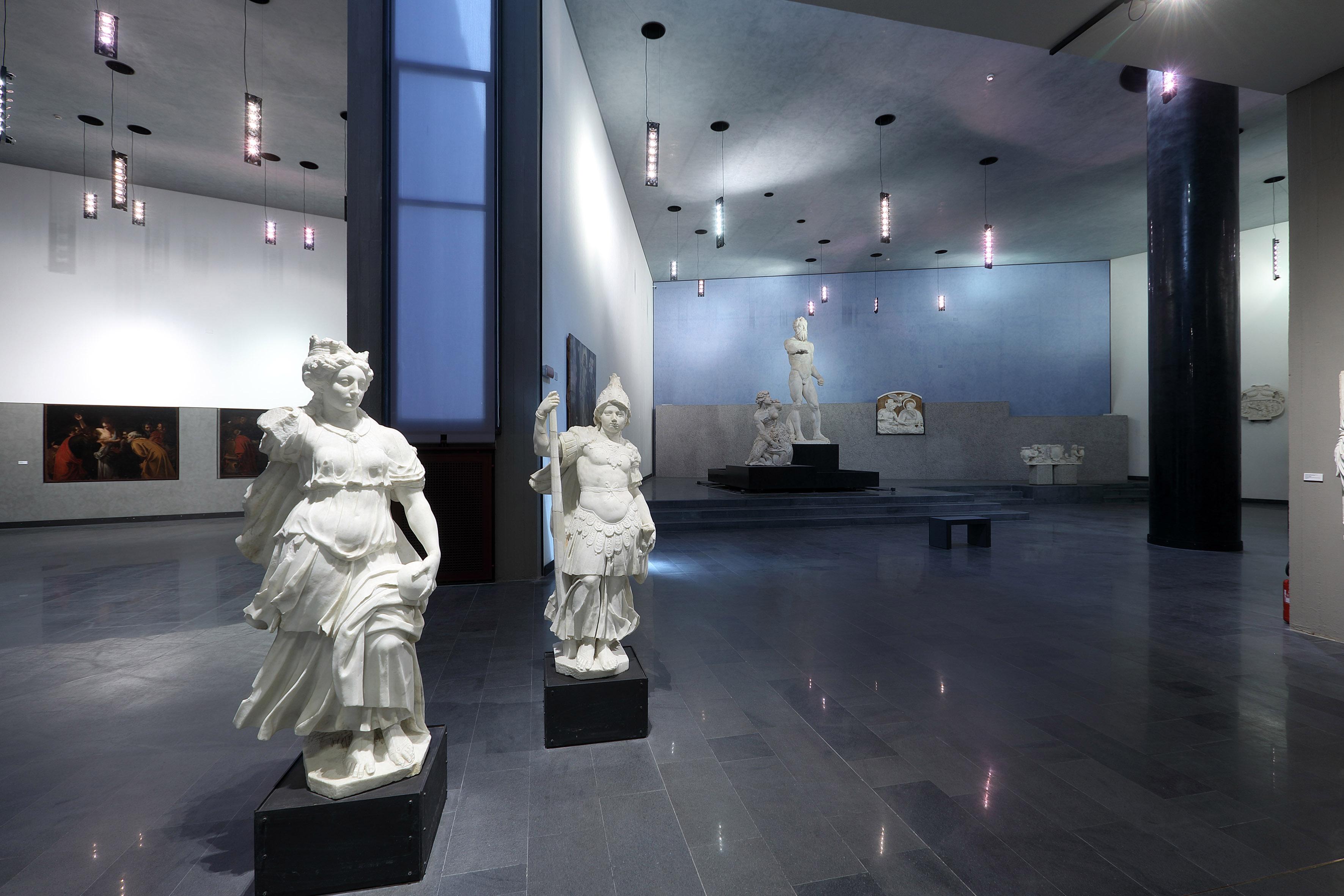 A sinistra i Caravaggeschi e Sala Montorsoli. Ph. Credit Foto Parrinello