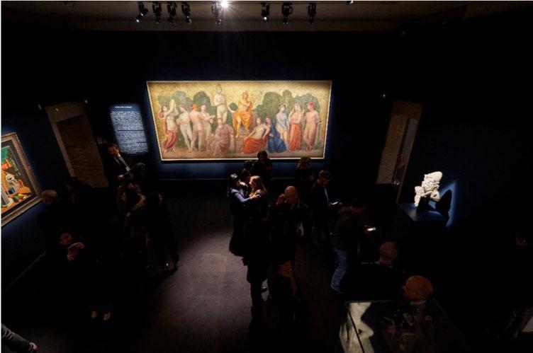 Sala della mostra Ulisse. L'arte e il mito a Forlì, Musei San Domenico, dal 15 febbraio al 21 giugno 2020