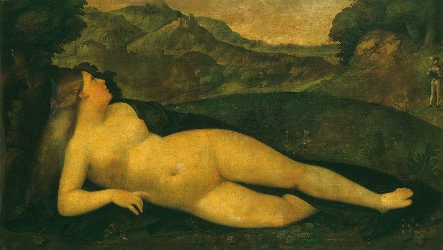Giovanni Cariani, Venere in un paesaggio (1530-1535 circa; olio su tela, 80,5 x 138,5 cm; Windsor, Royal Collection)