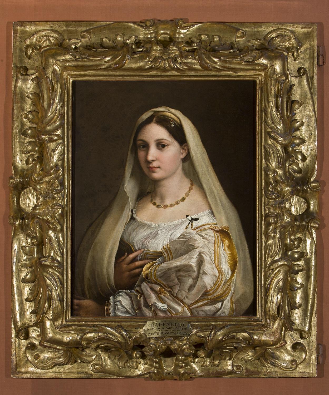 Raffaello, La Velata (1515-1516; olio su tela trasposta da tavola, 82 x 60,5 cm; Firenze, Palazzo Pitti, Galleria Palatina)