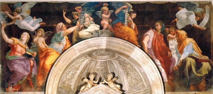 Raffaello, Sibille e angeli (1514; affresco, lunghezza 615 cm; Roma, Santa Maria della Pace)