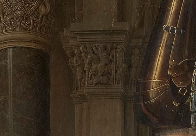 Jan van Eyck, Madonna del canonico Van der Paele, dettaglio