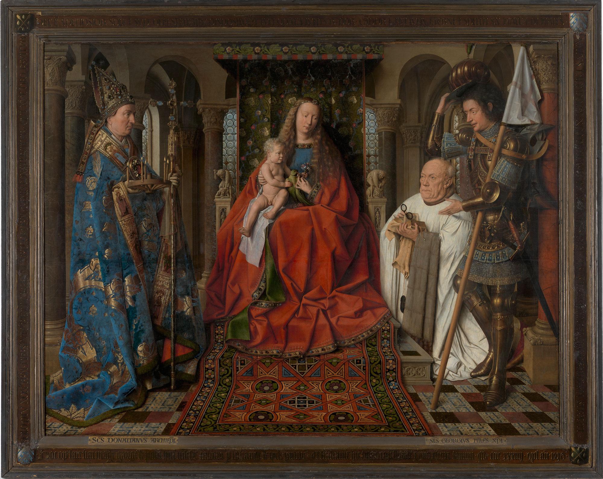 Jan van Eyck, Madonna del canonico Van der Paele (1436; olio su tavola, 122,1 x 157,8 cm; Bruges, Groeninge Museum)