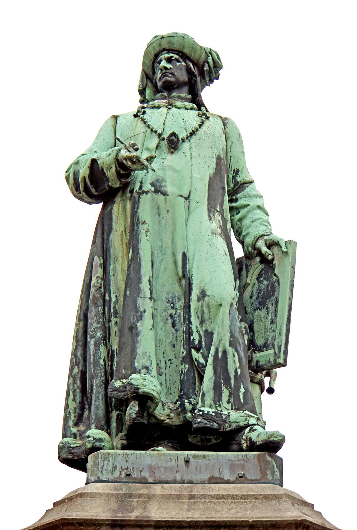 La statua di Jan van Eyck di Hendrik Pickery