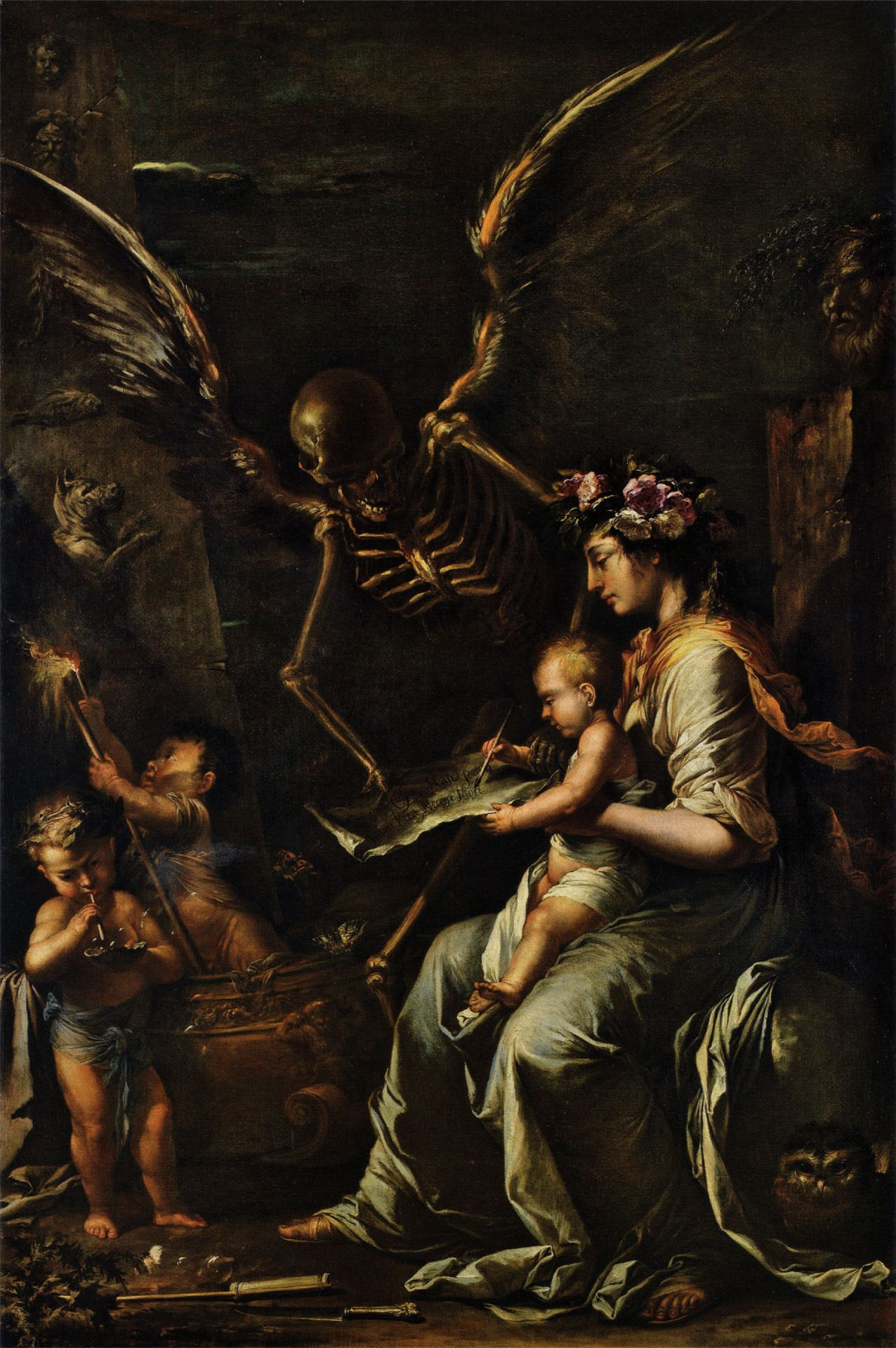 Salvator Rosa, L'Umana Fragilità (1656; olio su tela, 199 x 134 cm; Cambridge, Fitzwilliam Museum)