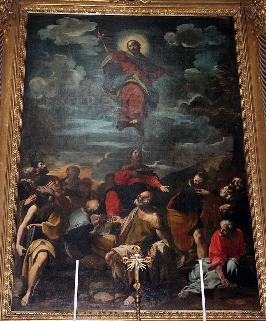 Carlo Bononi, Ascensione di Cristo (1627 circa; olio su tela, 450 x 380 cm; Bologna, San Salvatore). Ph. Credit Francesco Bini