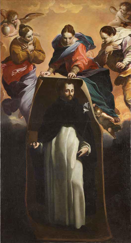 Carlo Bononi, Miracolo di Soriano (1621-1626; olio su tela, 270 x 143 cm; Ferrara, chiesa di San Domenico, cappella di san Tommaso d'Aquino. In deposito temporaneo presso il Palazzo Arcivescovile)