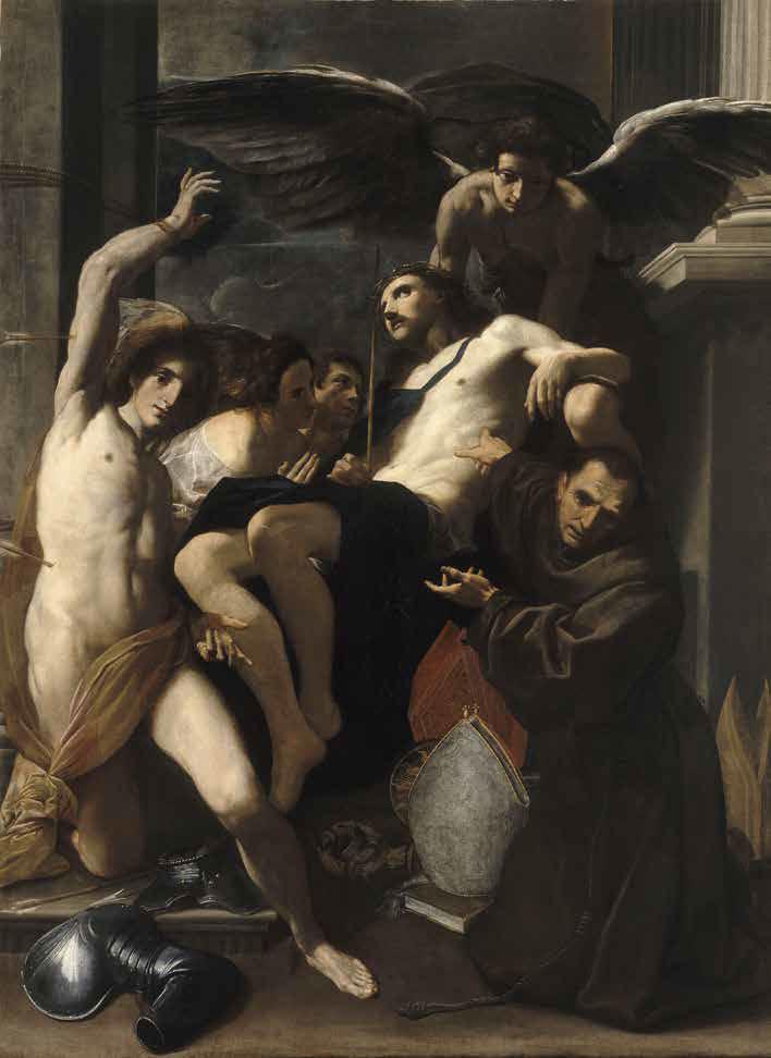 Carlo Bononi, Pietà (1619 circa; olio su tela, 248 x 178 cm; Parigi, Louvre)